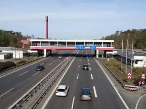 A115 von der Königswegbrücke aus (2017) A115, Dreilinden, Drewitz, AVUS, Grunewald