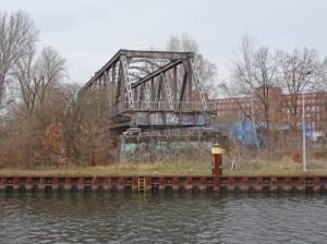 Ehemalige S-Bahn Brücke über die alte Spree (2016) S-Bahn-Brücke, Berlin-Siemensstadt,