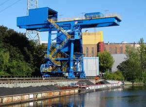 Hafenanlage am Kraftwerk Reuter (2016) Hafen Kraftwerk Reuter, Berlin-Spandau, Spree, Kraftwerk Reuter
