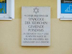 Gedenktafel an die Potsdamer Synagoge Synagoge, Potsdam,