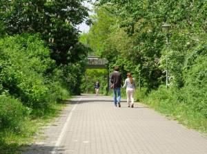 Fußgängerunterführung am S-Bahnhof Schichauweg (2016) Fußgängerunterführung S-Bahnhof Schichauweg, Ehemalige Industriebahn