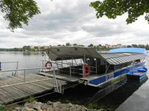 66-Seen-Weg, Seilfähre Strausberg 2015 66-Seen-Weg Strausberg - Strausberg Stadt nach Strausberg, Straussee, Straussee, Annafließ
