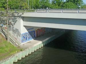 Hermann-Maaß-Brücke 2021 Hermann-Maaß-Brücke, Berlin-Moabit, Westhafen-Verbindungskanal, Westhafen