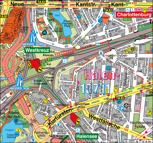 Heilbronn Karte Stadtplan.Heilbronner Strasse Berlin 10711 Berlin Halensee